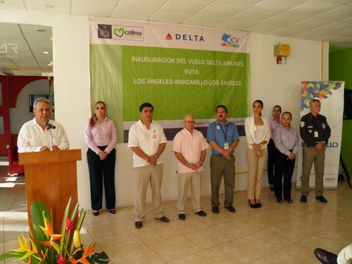 Vuelo comercial de Delta arriba a Manzanillo