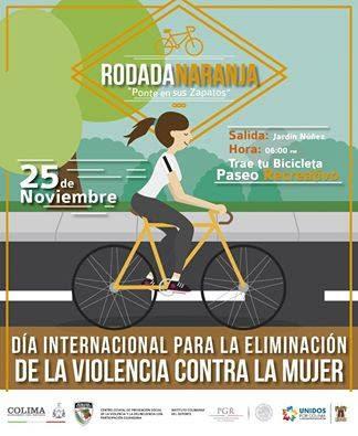 Este viernes rodada naranja para prevenir la violencia contra las mujeres