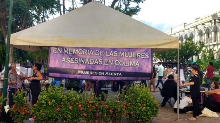 Protestas contra los femenicidios en Colima.